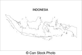 Indonesia black and white clipart vector freeuse stock Indonesia map Vector Clip Art Illustrations. 820 Indonesia map ... vector freeuse stock
