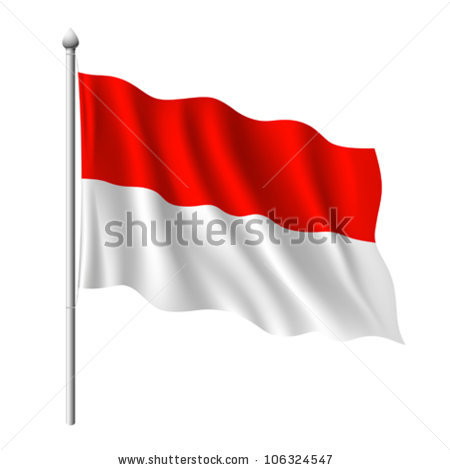 Indonesia flag clipart image black and white download Indonesia Flag Stock Images, Royalty-Free Images & Vectors ... image black and white download