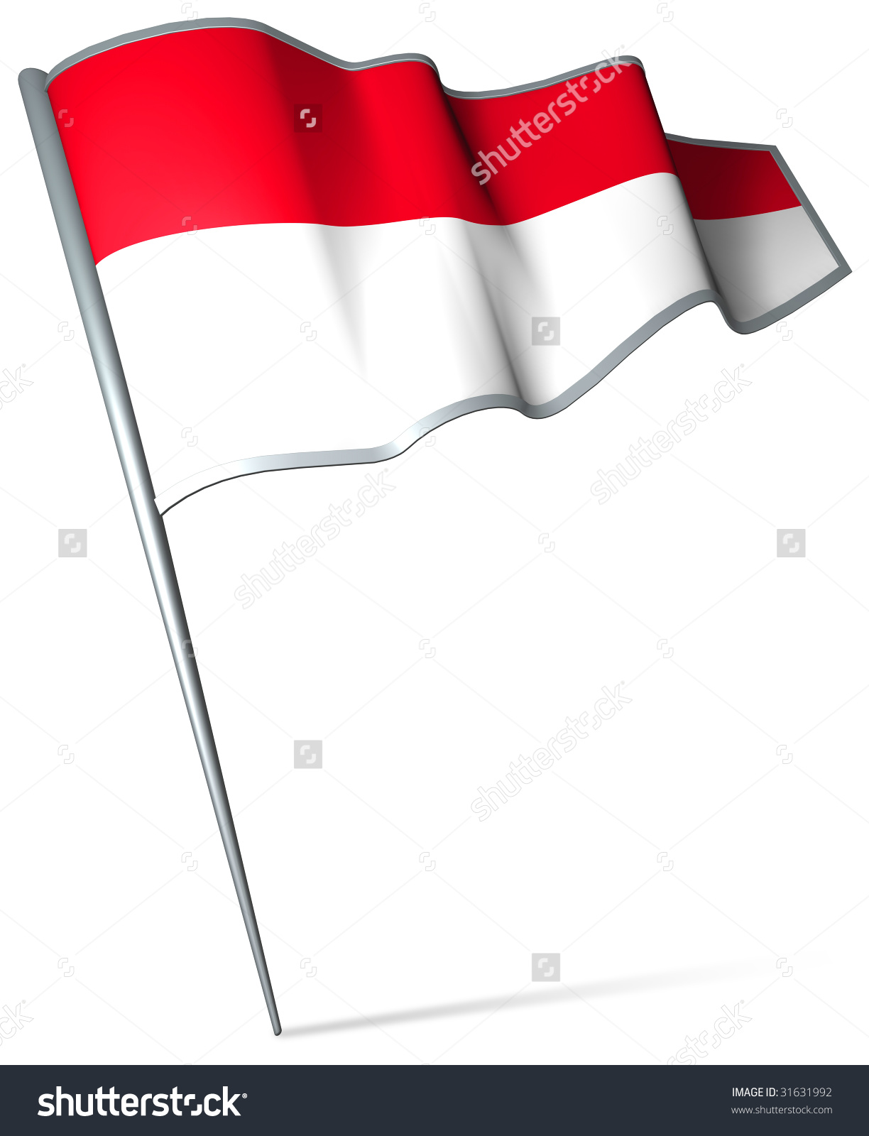 Indonesia flag clipart vector black and white download Flag Pin Indonesia Stock Illustration 31631992 - Shutterstock vector black and white download