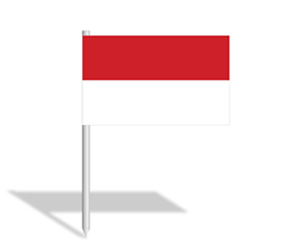Indonesia flag clipart black and white library Indonesia Flag PowerPoint Slide - Templateswise.com black and white library