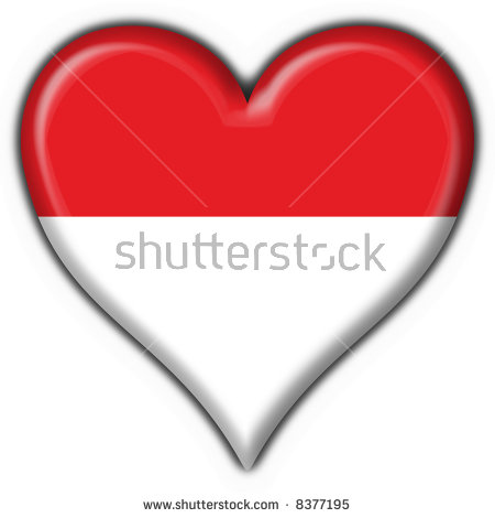 Indonesia flag clipart png download Indonesia Button Flag Heart Shape Stock Photo 8377195 : Shutterstock png download