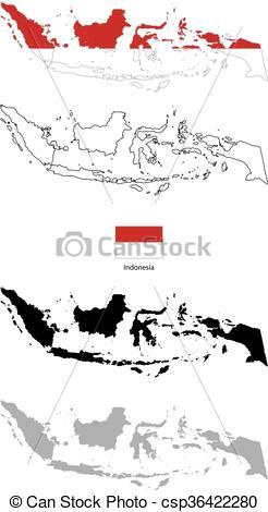Indonesia flag country clipart