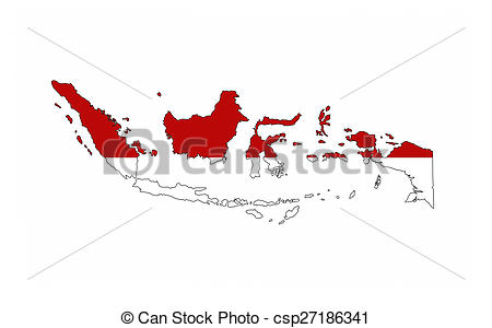 Indonesia flag country clipart freeuse library Drawing of indonesia flag map - indonesia country flag map shape ... freeuse library
