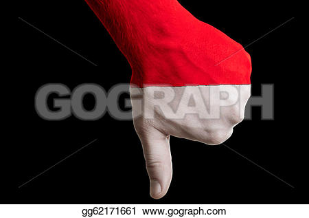 Indonesia flag country clipart image download Drawing - Hand with thumb down gesture in colored indonesia ... image download