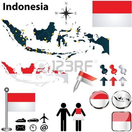 Indonesia flag country clipart graphic black and white library 4,228 Indonesia Flag Stock Vector Illustration And Royalty Free ... graphic black and white library