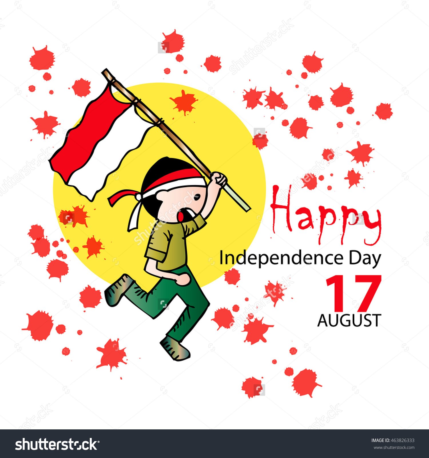 Indonesia independence day clipart graphic transparent Happy Independence Day Indonesia Stock Vector 463826333 - Shutterstock graphic transparent