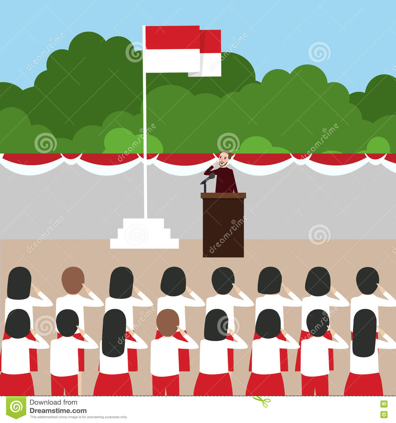 Indonesia independence day clipart vector free Indonesian Independent Day Stock Vector - Image: 56544657 vector free