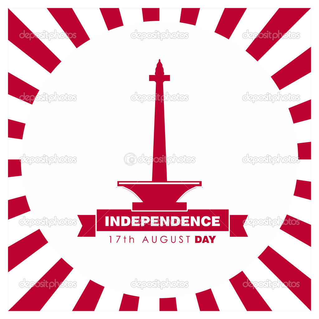 Indonesia independence day clipart clip art library Indonesia Independence Day poster — Stock Vector © ibrandify #93832216 clip art library