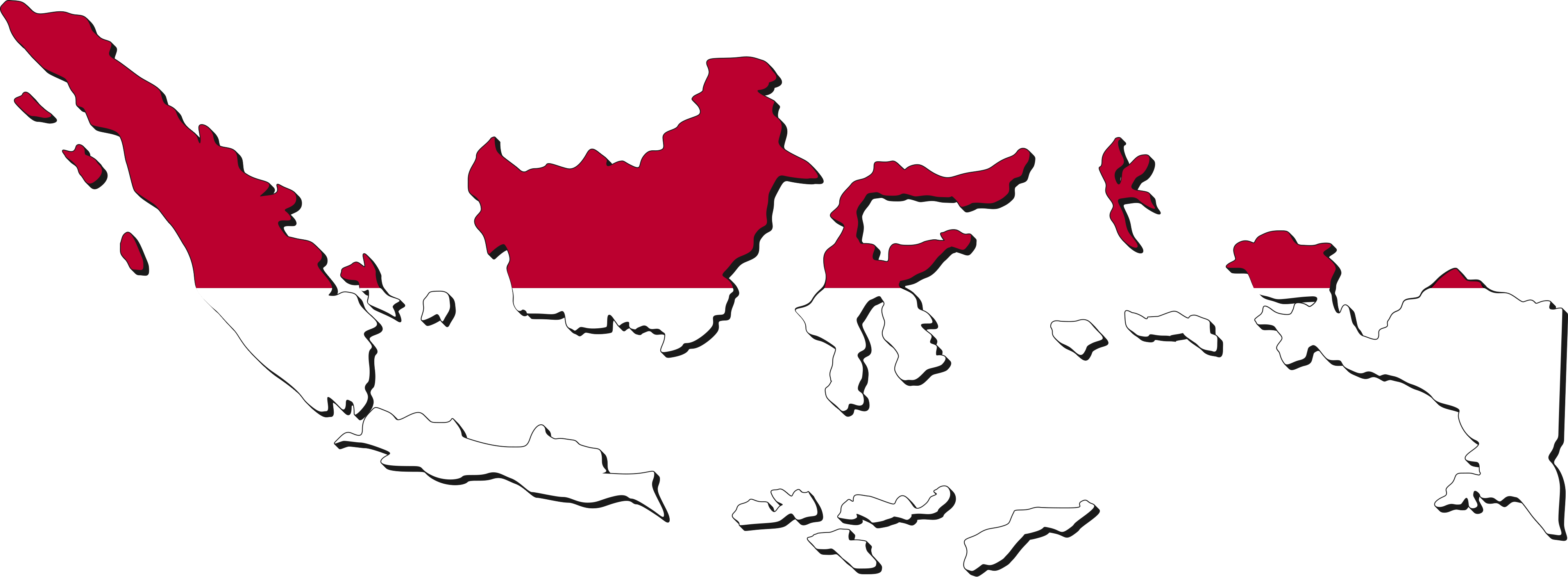 Indonesia map clip art banner library library Indonesia Map with cities - blank outline map of Indonesia- banner library library