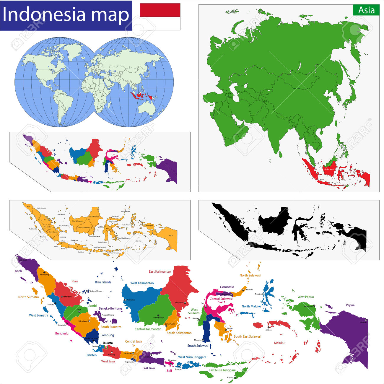 Indonesia map clip art clipart free stock 3,244 Indonesia Map Stock Vector Illustration And Royalty Free ... clipart free stock