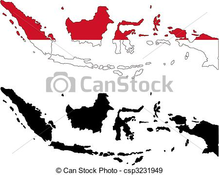 Indonesia map clip art clip Indonesia map clipart - ClipartFest clip