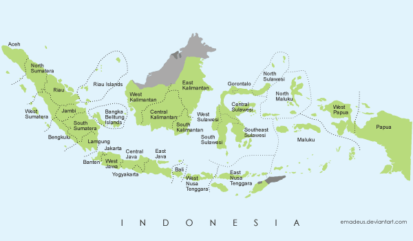 Indonesia map clip art picture library library Indonesia map clipart - ClipartFest picture library library