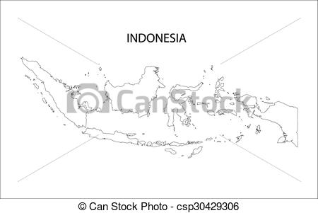 Indonesia map clip art clipart free download Vector Clipart of outline of Indonesia map csp30429306 - Search ... clipart free download