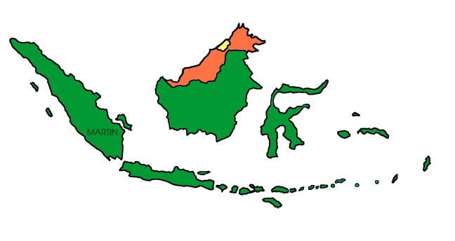 Indonesia map clipart graphic freeuse library Free Asia Clip Art by Phillip Martin, Indonesia Map graphic freeuse library