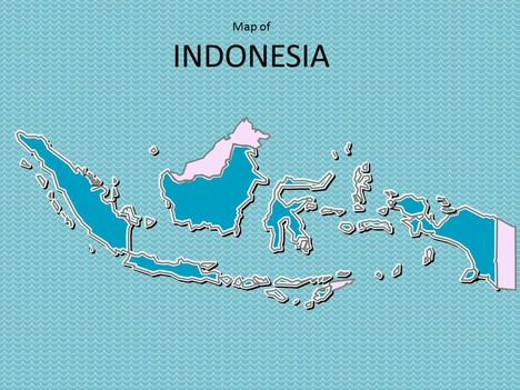 Indonesia map clipart picture royalty free download Map of Indonesia Template picture royalty free download