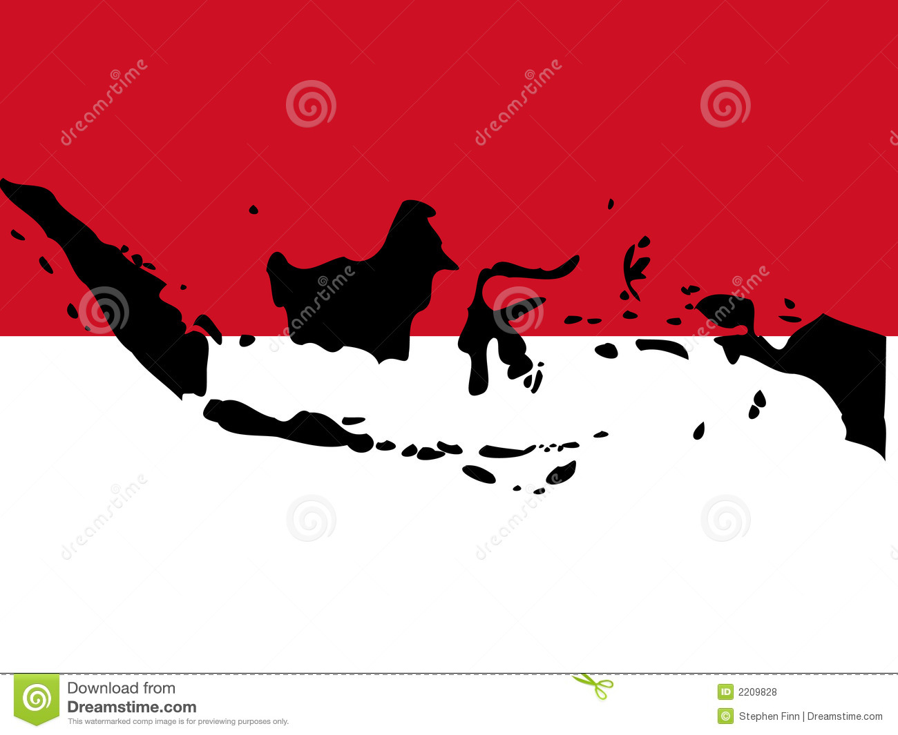 Indonesia map clipart clipart stock Map Of Indonesia Royalty Free Stock Photos - Image: 2209828 clipart stock
