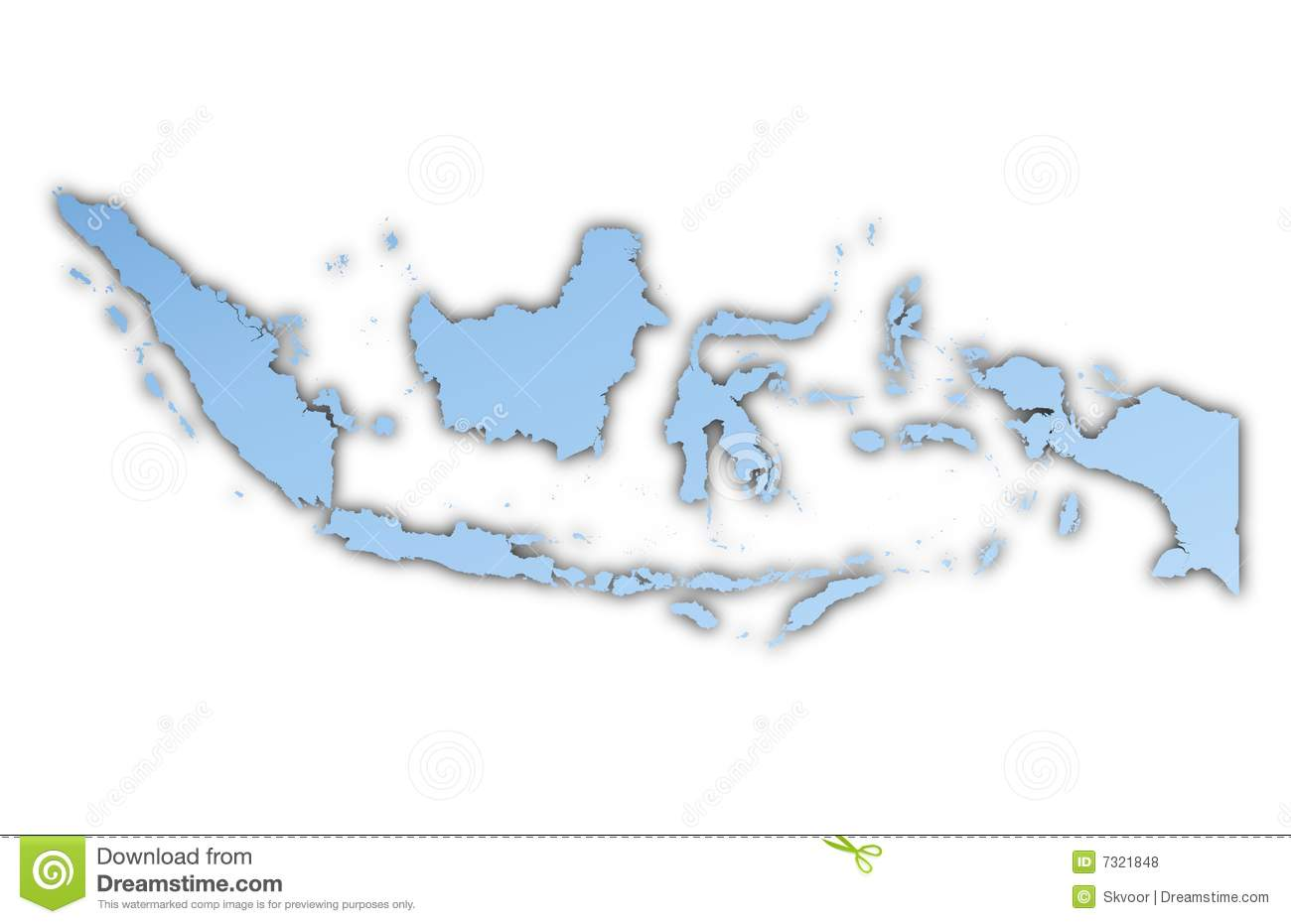 Indonesia map clipart clip art black and white library Map Of Indonesia Stock Vector - Image: 55675502 clip art black and white library