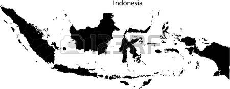 Indonesia map clipart black and white library 3,239 Indonesia Map Stock Vector Illustration And Royalty Free ... black and white library