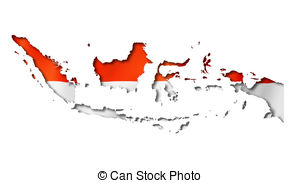 Indonesia map clipart jpg transparent library Drawing of indonesia flag map - indonesia country flag map shape ... jpg transparent library