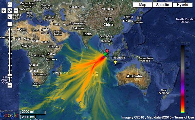 Indonesia tsunami svg free library NOAA maps October 25th Indonesian tsunami – gCaptain svg free library
