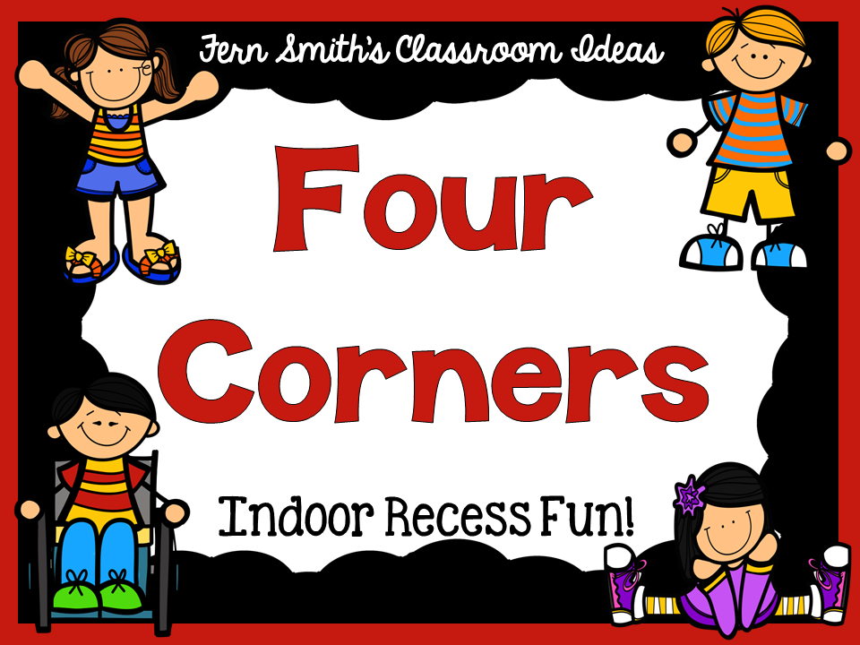 Indoor recess clipart clipart free stock Indoor Recess ~ Four Corners Directions - Fern Smith\'s Classroom Ideas! clipart free stock
