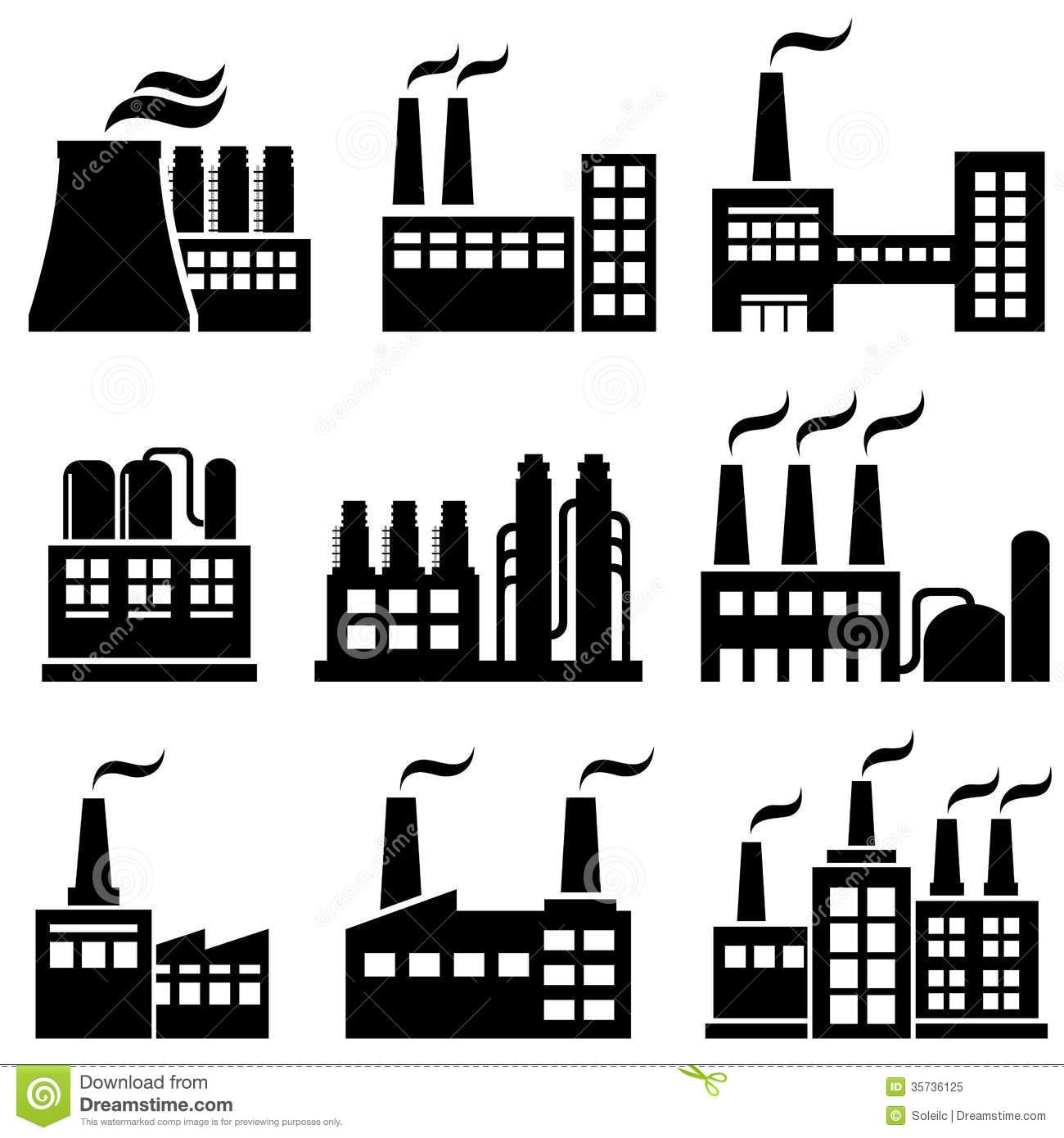 Industrial buildings clipart banner transparent Industrial buildings | Clipart Panda - Free Clipart Images banner transparent