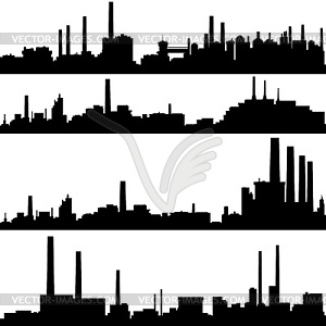 Industrial buildings clipart clipart transparent Industrial buildings - vector clipart clipart transparent