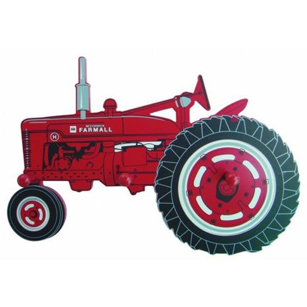 Inernational harvestor tractor clipart images png library download Farmall Tractor Silhouette Coat Rack - SMDR4910-122 | Tractor ... png library download