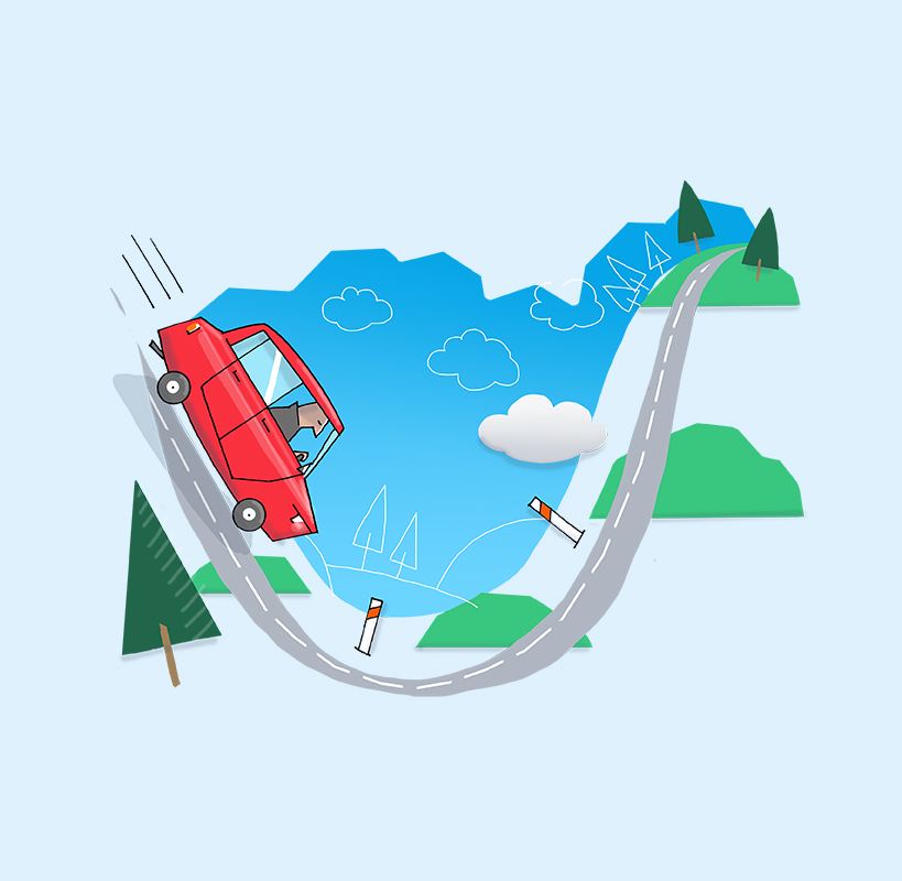 Inertia in a car clipart around a corner png black and white library Use cruise control correctly - ŠKODA Storyboard png black and white library