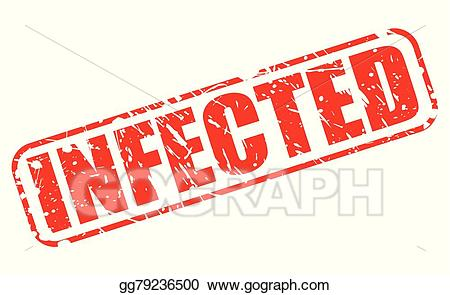Infected clipart royalty free download EPS Vector - Infected red stamp text. Stock Clipart Illustration ... royalty free download