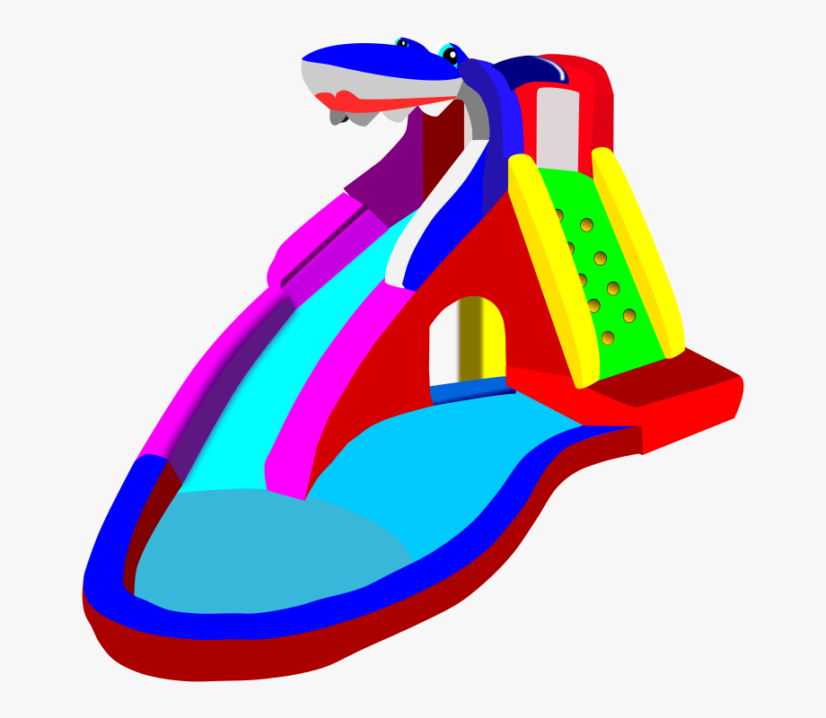 Inflatable slide clipart vector transparent download Inflatable Water Slide Clipart #95951 - Free Cliparts on ClipartWiki vector transparent download