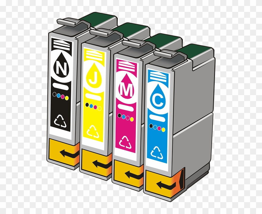 Ink cartridges clipart picture freeuse Cartridges, Ink, Cmyk, Cyan, Magenta, Yellow, Black Clipart ... picture freeuse
