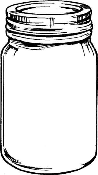 Ink drawing clipart vector transparent stock Free mason jar tempplates an ink drawing of a mason jar clipart ... vector transparent stock