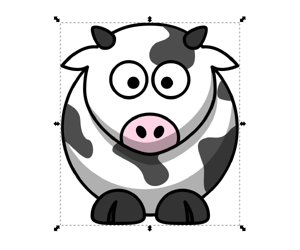 Inkscape importing clipart image stock import clipart inkscape | Design Tools | Animated cow, Fat ... image stock