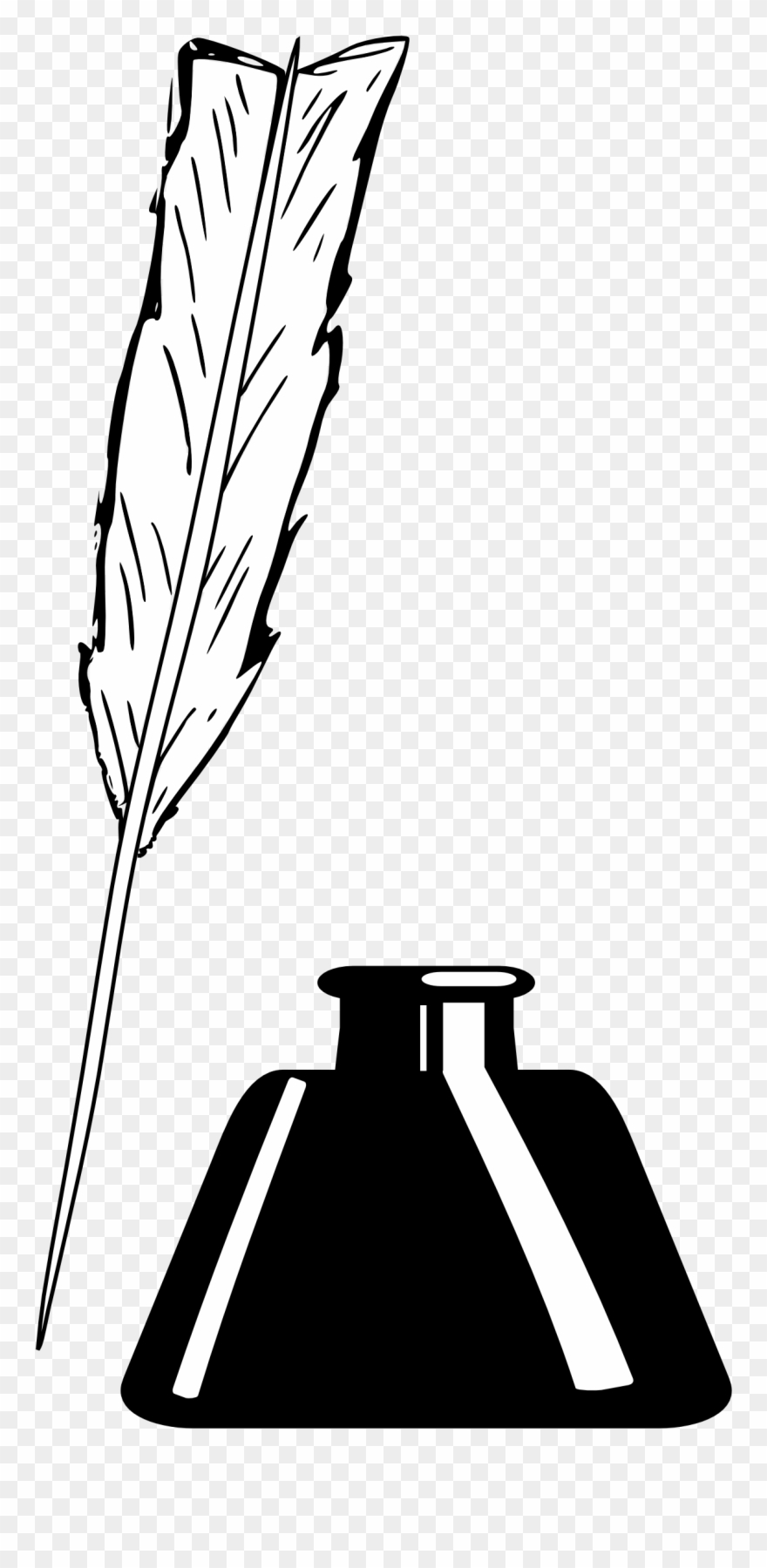 Inkwell clipart graphic transparent stock Pen And Inkwell Quill Clip Art - Inkwell Clipart - Png ... graphic transparent stock