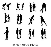 Inline speed skating clipart png black and white Inline speed skating Illustrations and Stock Art. 233 Inline speed ... png black and white