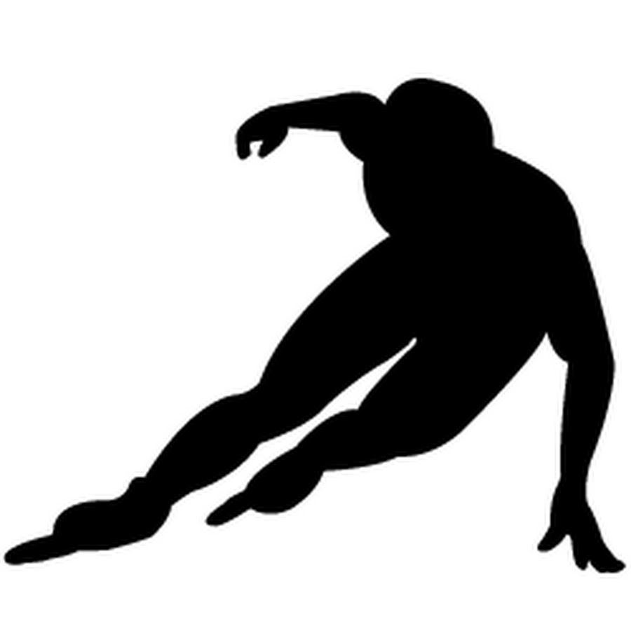 Inline speed skating clipart vector transparent Inline Speed Skater - YouTube vector transparent
