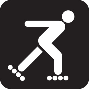 Inline speed skating clipart picture library library Inline speed skating clipart - ClipartFest picture library library