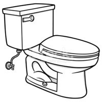 Inodoro clipart vector black and white stock Toilet vektory z knihovny - Clipart.me vector black and white stock