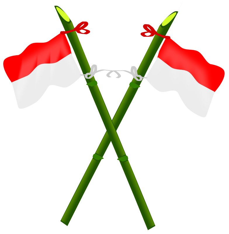 Insan clipart svg free download Free Clipart: Bamboo and Indonesian flag-2 | insan svg free download