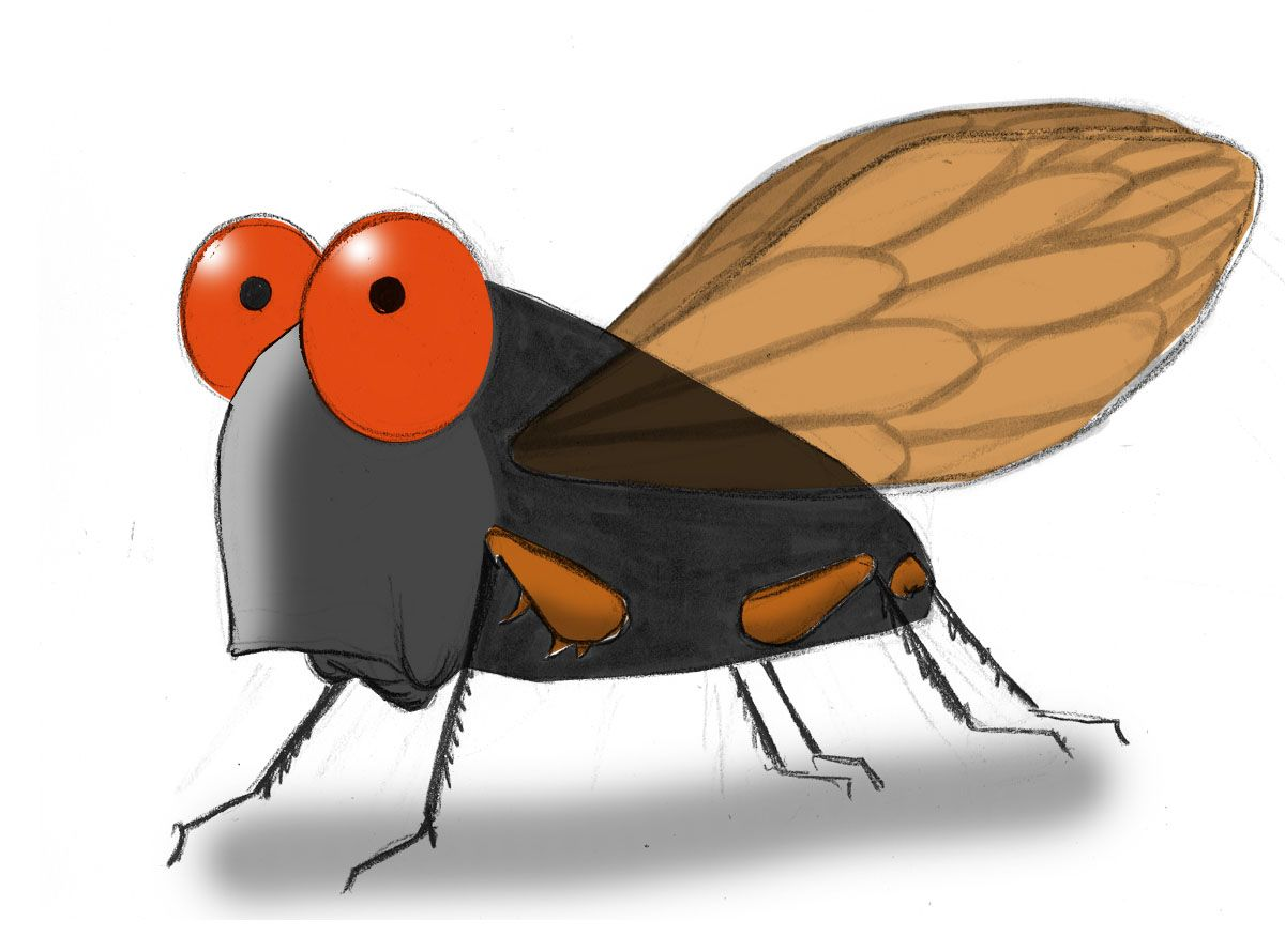 Insects popping out of a book clipart banner freeuse download The Cicadas are coming - Ann Telnaes | Costumes/Dress up ... banner freeuse download