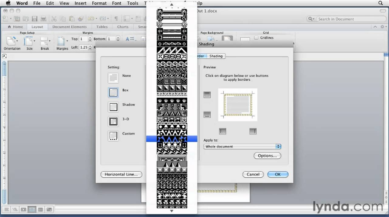 Inserting clipart in pages on a mac