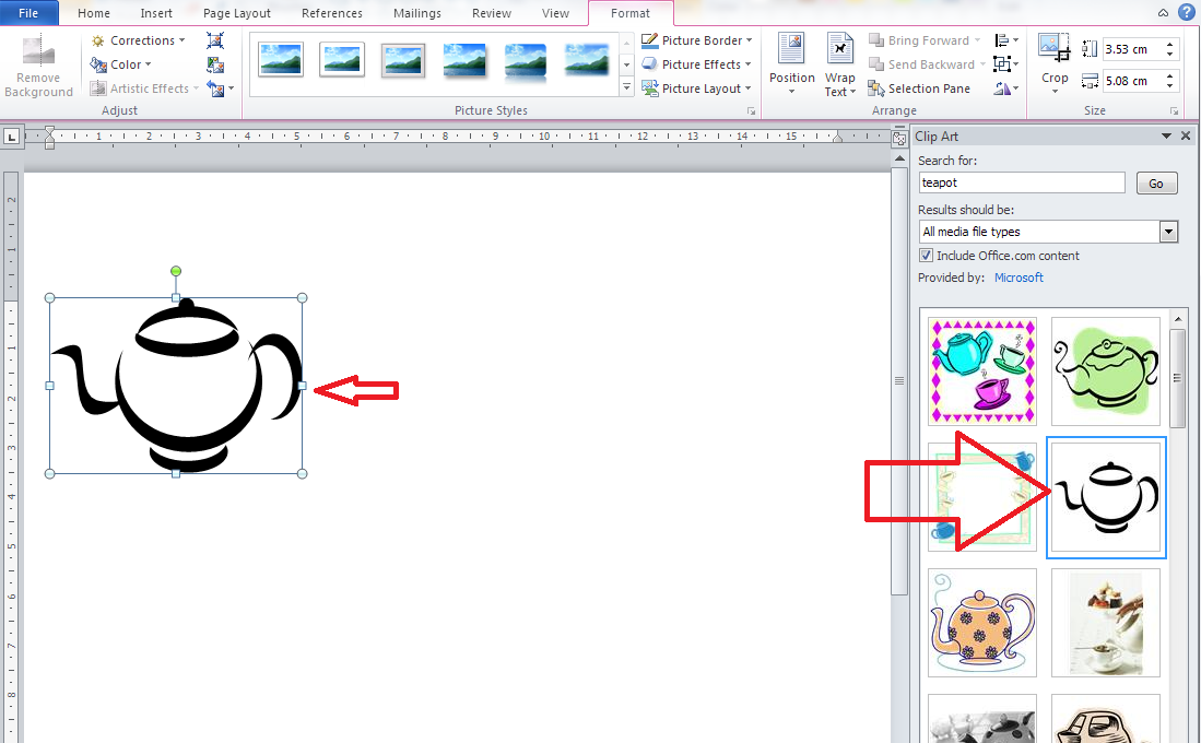 Insert clipart in word clip freeuse stock How do I insert clip art in Word 2007, 2010 and 2013 and ... clip freeuse stock