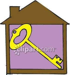 Inside clipart clip art royalty free library Gold Key Inside a House - Royalty Free Clipart Picture clip art royalty free library
