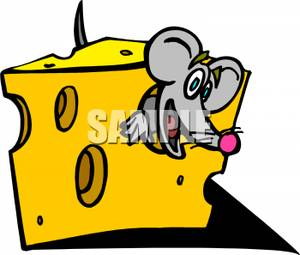 Inside clipart clipart royalty free Smiling Mouse Inside a Slice of Cheese Clip Art Image clipart royalty free