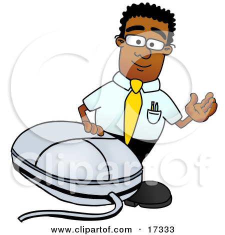 Inside computer looking out clipart clip art black and white stock Clipart Picture of a Black Businessman Mascot Cartoon Character ... clip art black and white stock