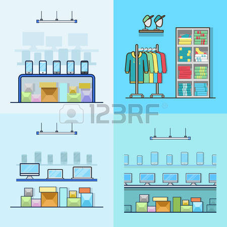 Inside electronics store outline clipart jpg transparent download 1,431 Clothing Store Interior Cliparts, Stock Vector And Royalty ... jpg transparent download