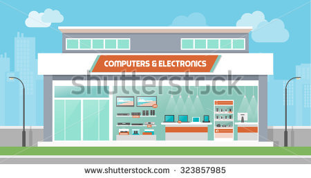 Inside electronics store outline clipart clip art black and white Electronics Store Stock Images, Royalty-Free Images & Vectors ... clip art black and white
