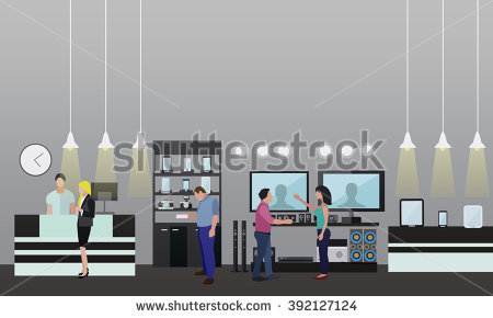 Inside electronics store outline clipart clip art black and white download Electronics Stock Images, Royalty-Free Images & Vectors | Shutterstock clip art black and white download