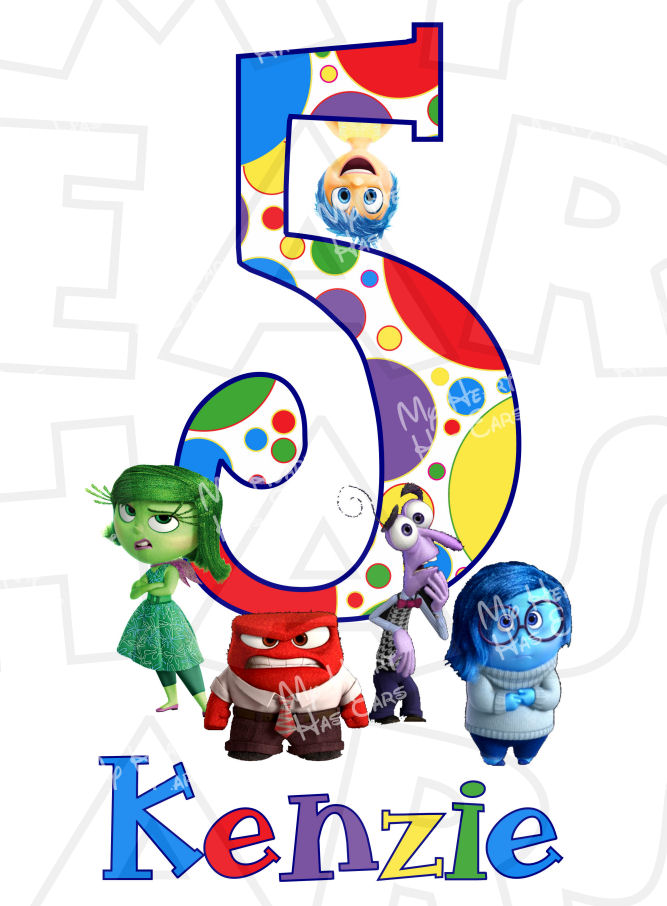 Inside out characters clipart png free stock Inside Out Birthday CUSTOM digital clip art for iron on transfer ... png free stock